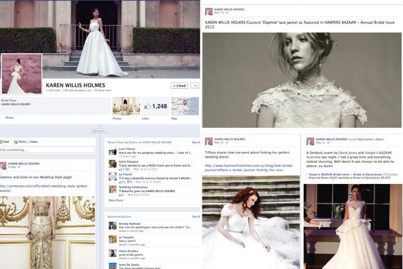 Wedding fashion inspiration Facebook page