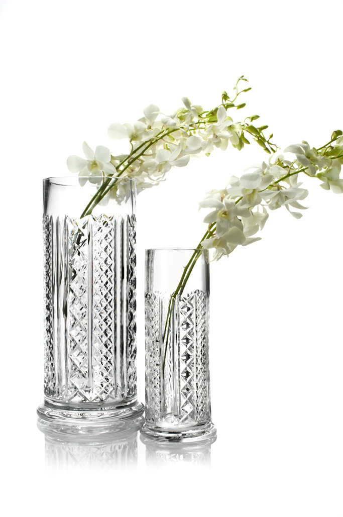 Waterford Crystal clear cylindrical vase