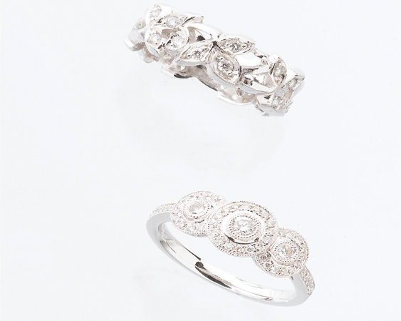floral wedding bands