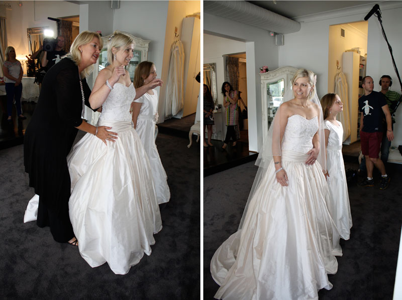 Wedding Dress fitting with Wendy Makin