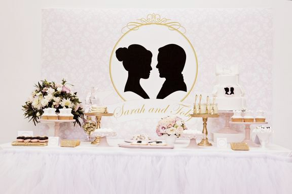 Silhouette themed dessert table