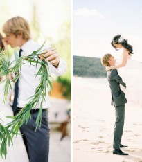Cute Beach Wedding Shoot