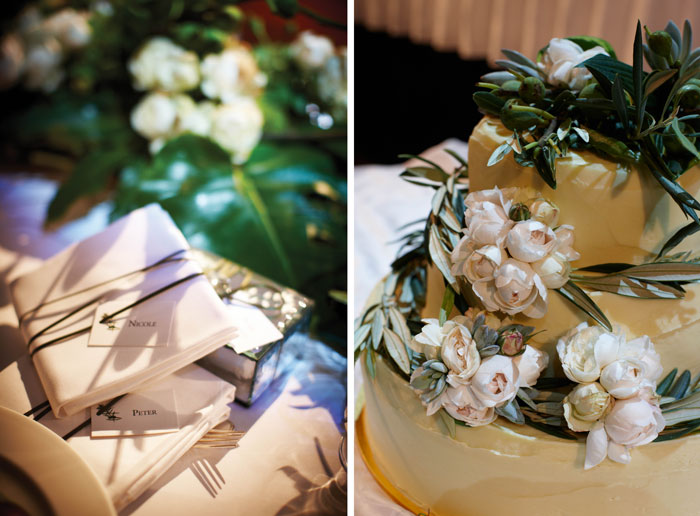 Wedding cake and styling details