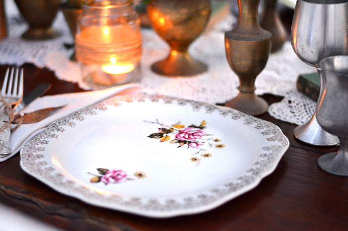 Floral-wedding-plate