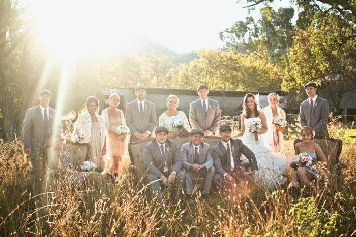 A diy wedding with vintage styling in country australia rustic bridesmaids wedding party junglespirit Gallery
