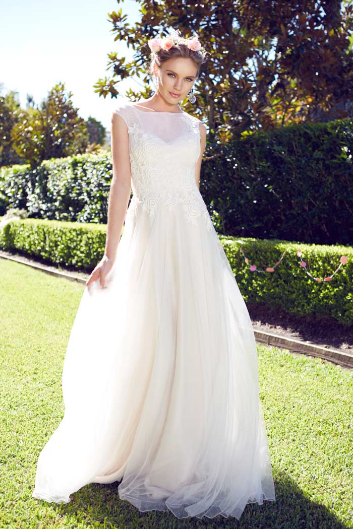 Garden Wedding Dresses for the Bride and her Girls Modern Wedding