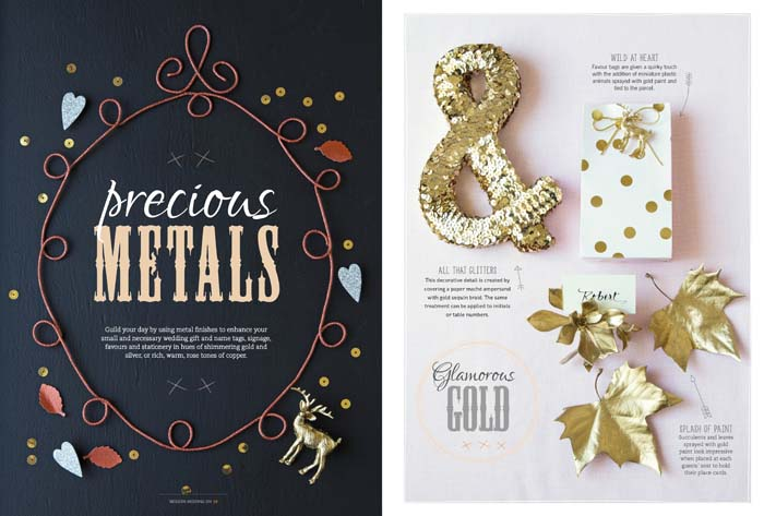 Wedding DIY with Precious Metals
