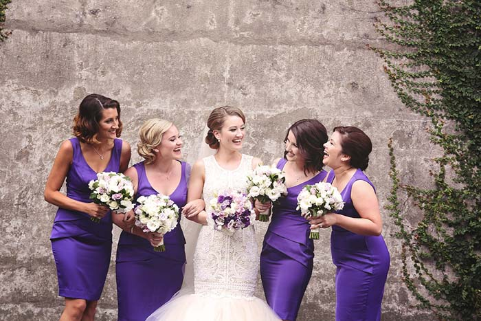 Real Wedding Sydney, Purple Bridesmaids