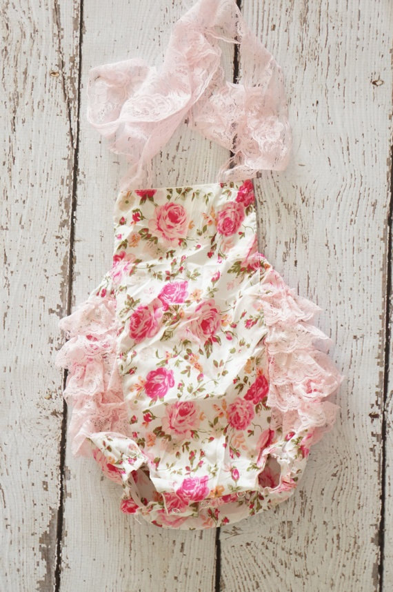 Flower Girl Romper Available at C E Bowtique on Etsy