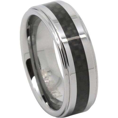 Tungsten Ring with Carbon Fine Centreline