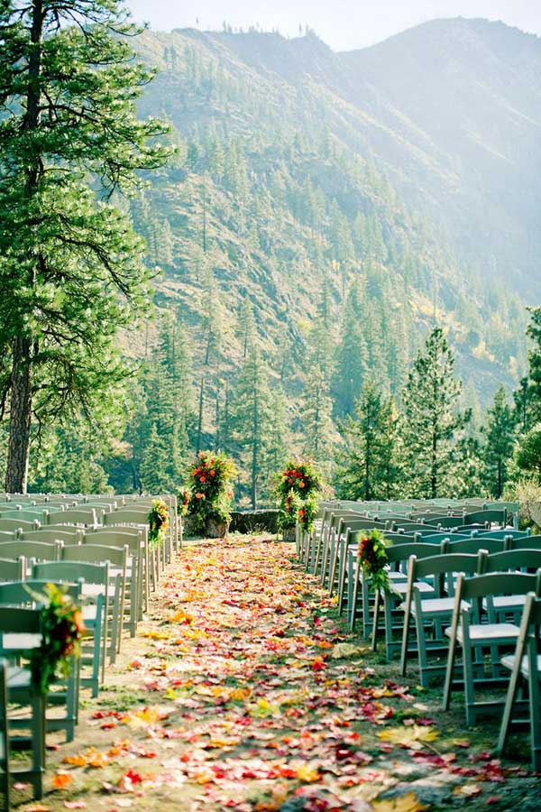 Wedding Aisle Ideas - Sleeping Lady Resort Atlas and Elia Photography