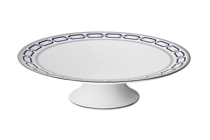 Vera Wang With Love Nouveau Indigo Footed Cake Plate