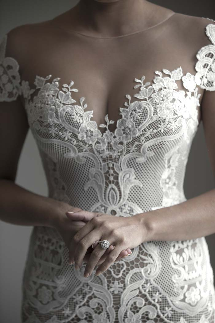 Bride in J'Aton Wedding Dress