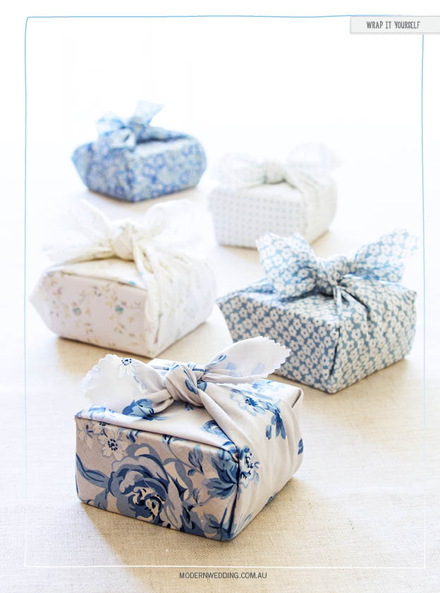 Furoshiki DIY wedding wrapping