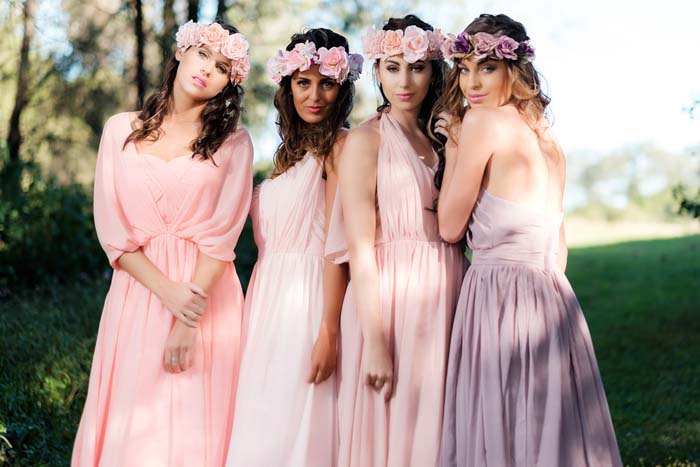 Goddess by Nature Pastel Bridesmaids Gowns