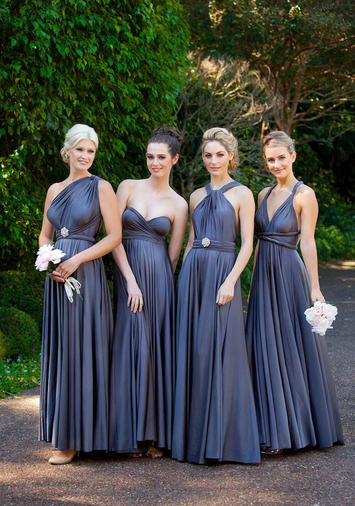 Goddess by Nature Bridesmaids Gowns in Purple