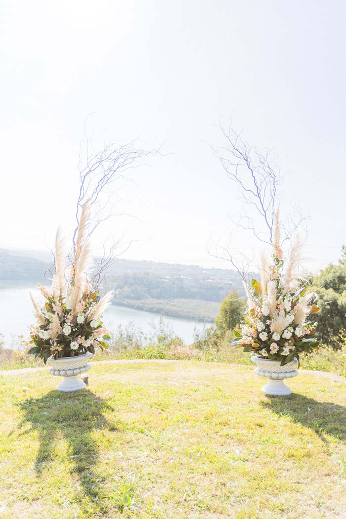 Bohemian Wedding Ceremony styled by lilelements