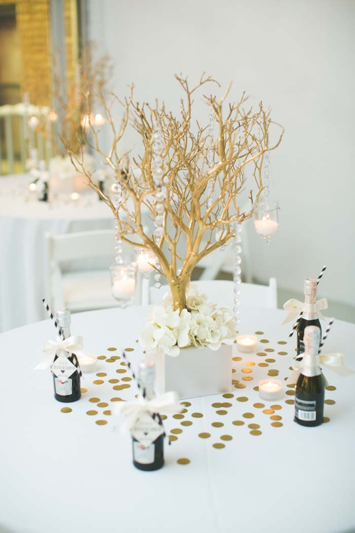 10 Times Metallic Spray Paint Made Ordinary Items Wedding ...