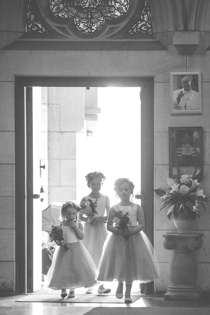 cute flower girls for a traditional wedding