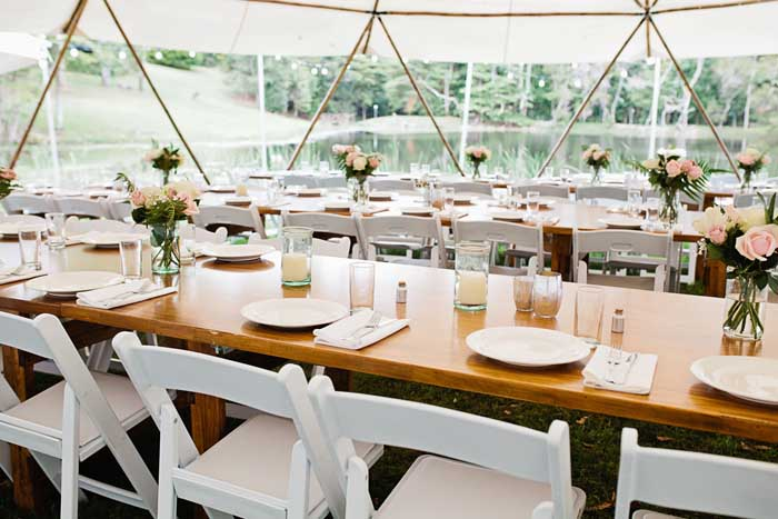 rustic marquee tent wedding 2