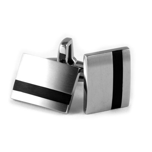 Black-Stripe-Titanium-Cufflinks