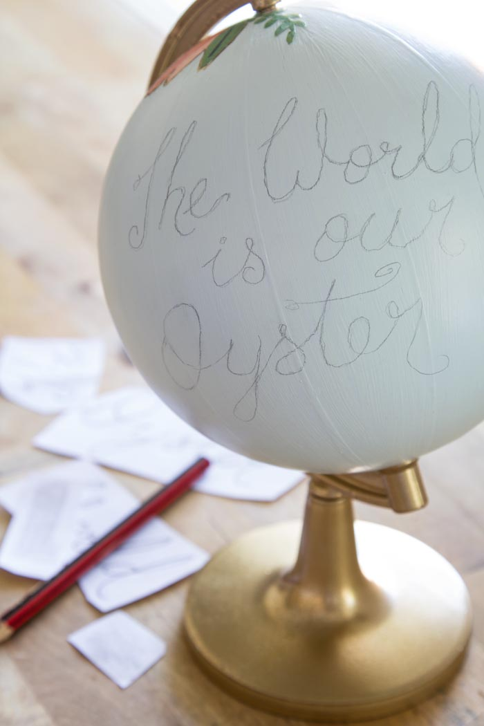 DIY World Globe Step 4