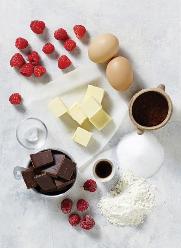 Chocolate Brownies with Raspberry Sauce Ingredients